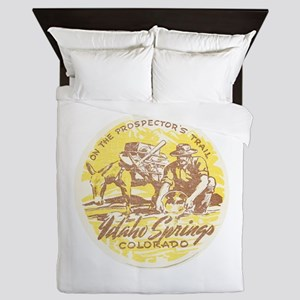 Faded Idaho Springs Colorado Queen Duvet